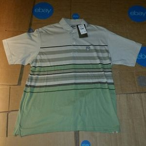 Izod Rock Wash Men L Short Sleeve MultiColor Shirt